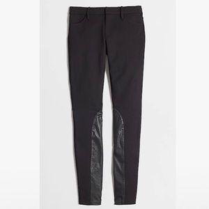 """J. Crew """"Gigi"""" Black Pant w/Faux Leather Patches"""